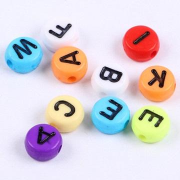 Alphabets Colour Base Black Text (Round)