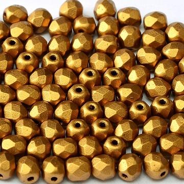 Fire Polish 4mm Brass Gold