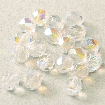 Fire Polish 3mm Crystal AB